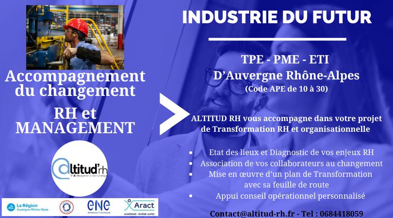 Programme d'accompagnement au changement «Industrie du Futur» en AuRa